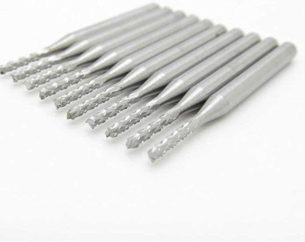 10pcs Carbide End Mill CNC Milling Cutter (1.5MM)