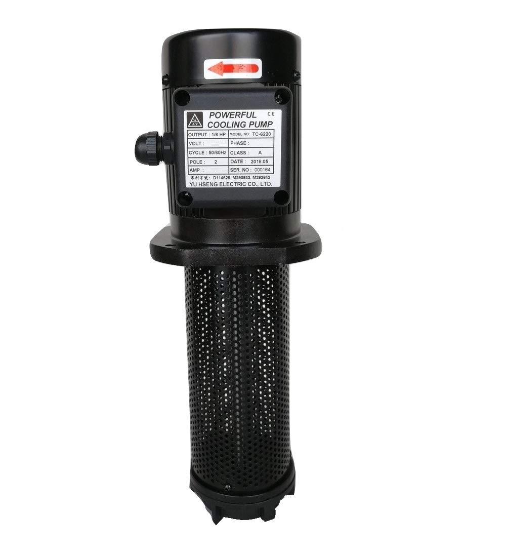 1/6 HP Lathe BandSaw Machine Tool Circulation Coolant Pump, Immersion Length 220mm (8.7
