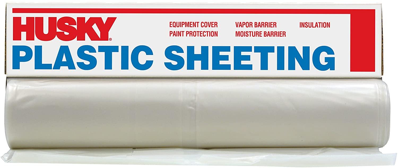Husky CF0416-50C 4 ML Tyco Polyethylene Opaque Plastic Sheeting, 16' x 50', Black
