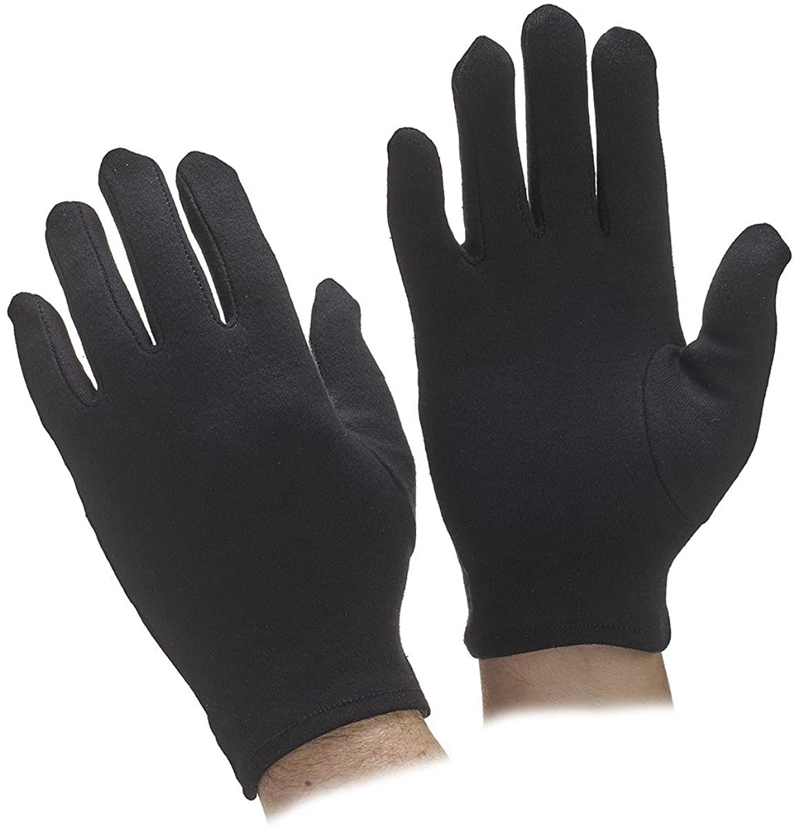 Go Gloves Cotton Parade Gloves, Black, Small, (Pack of 1 Pair)