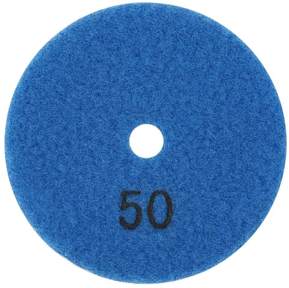 Diamond Polishing Pad,3inch Round Diamond Polishing Pad Granite Marble Grinding Disc Wet Polisher Tool(50 Mesh)