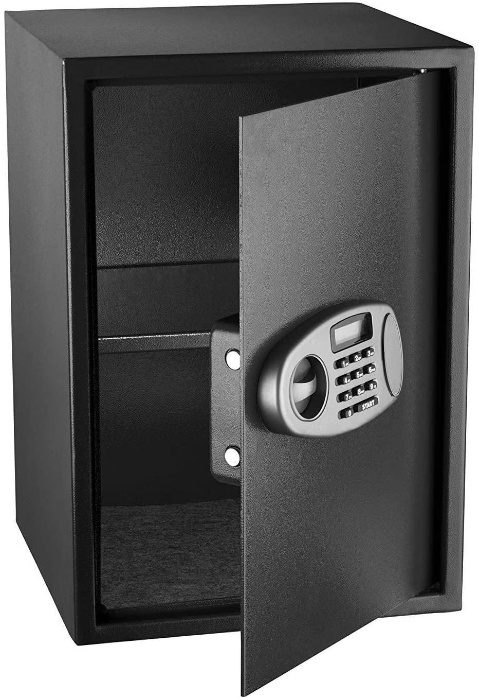 AdirOffice Security Safe with Digital Lock, Black, 2.32 Cubic Feet