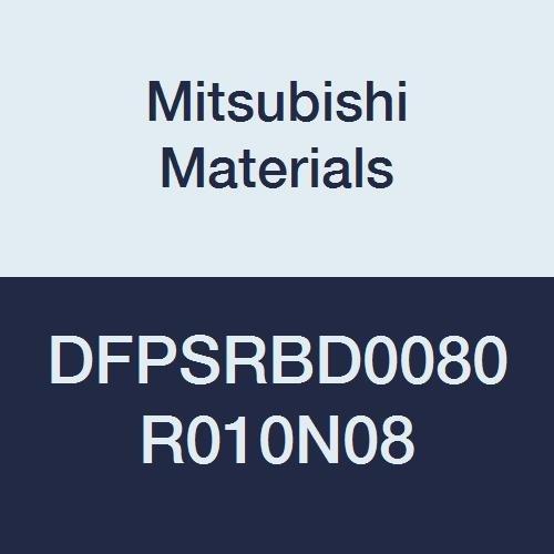 Mitsubishi Materials DFPSRBD0080R010N08 DFPSRB Carbide Diamond Coated Corner Radius End Mill, 2 Short Flutes, for Graphite, 0.8 mm Cut Dia, 0.1 mm Corner Radius, 8 mm Neck Length, 1 mm LOC