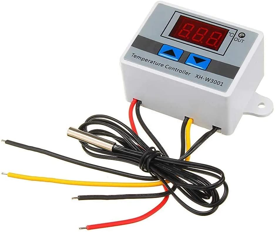 SH-CHEN XH-W3001 Microcomputer Digital Temperature Controller Thermostat Temperature Control Switch with Display (Size : 12V) Accessories