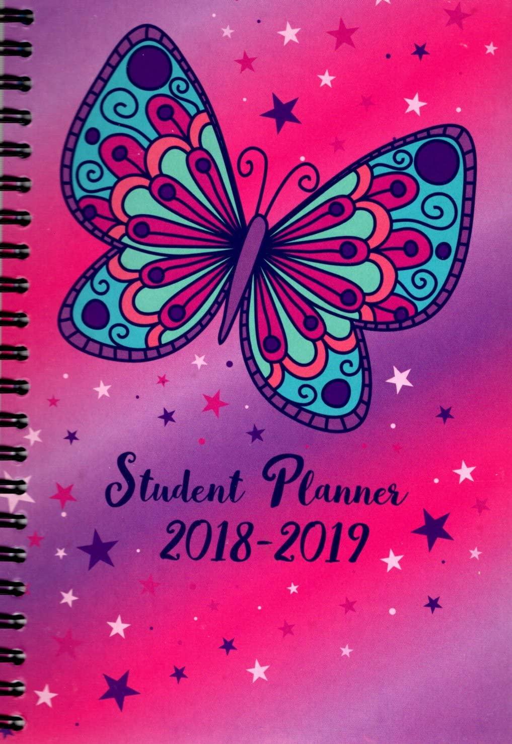 2018-2019 Student Planner Calendar - School College Weekly/Monthly Agenda - Appointment Book Organizer - (Spiral Bound) v8