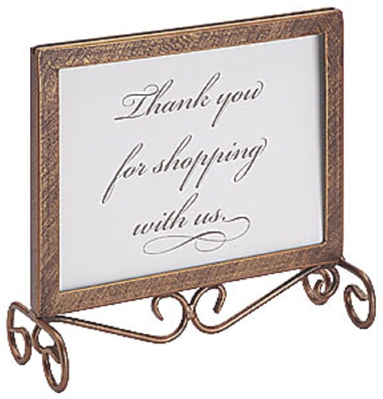 Cobblestone Boutique Countertop Sign Holder 7¼
