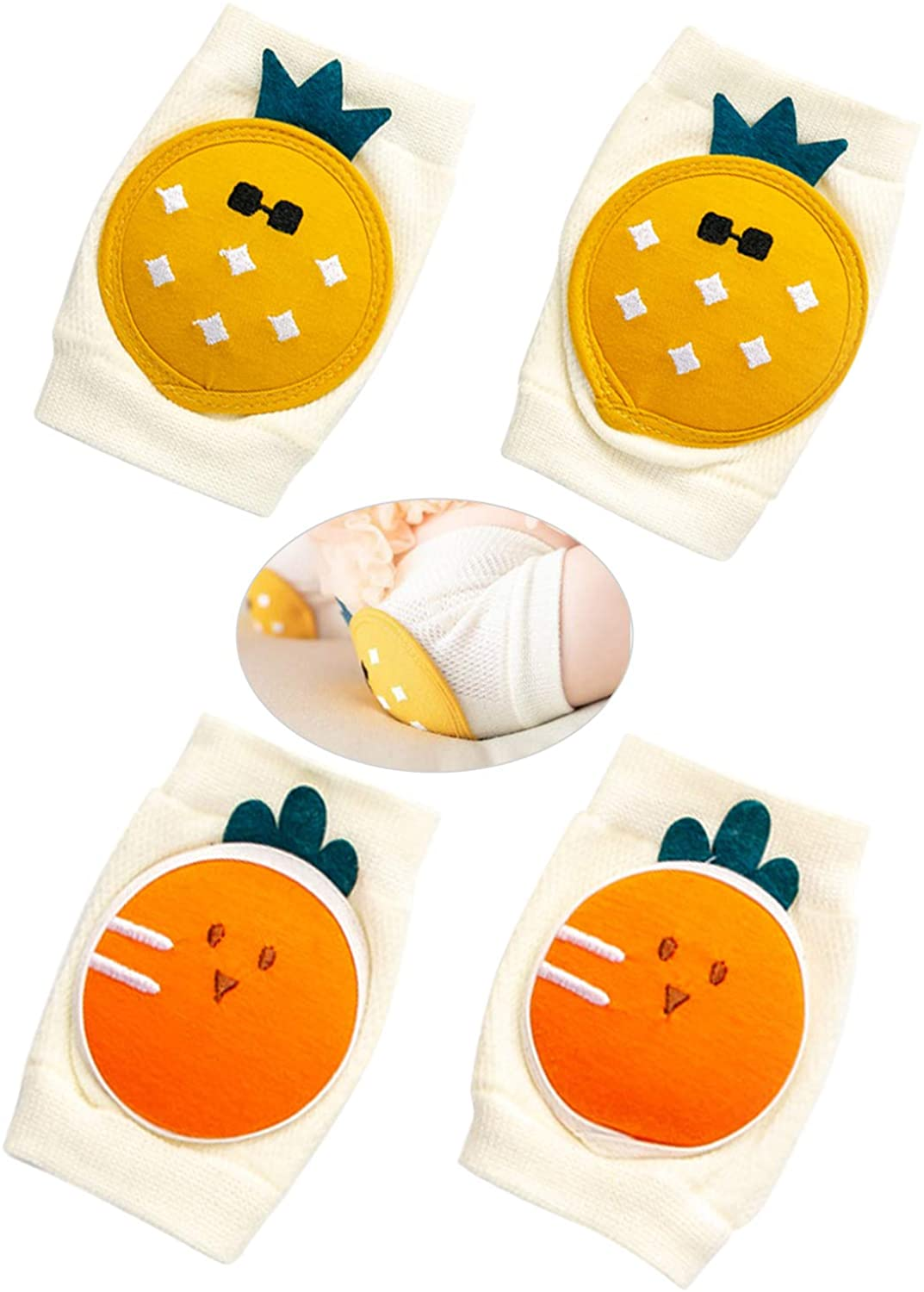 ZYNERY Baby Knee Pads for Crawling, Anti-Slip&Breathable Knee Pads Protector For Crawling and Safety Walking, Unisex Baby Toddlers Kneepads