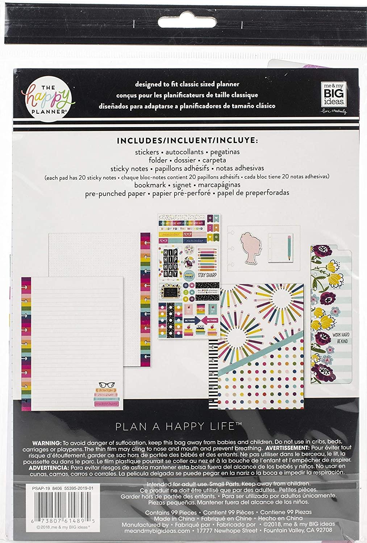 Me & My Big Ideas Happy Planner Medium Accessories 99/Pkg-Kind Kid (student), Multi