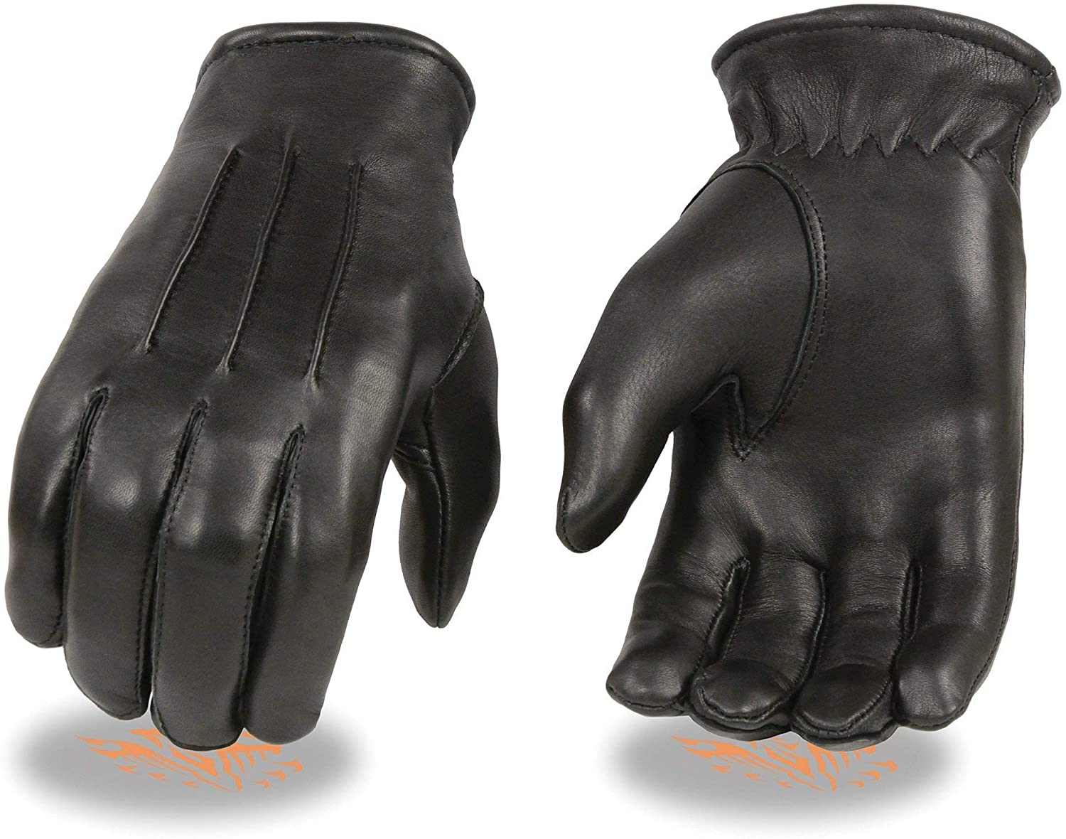 Milwaukee Leather SH865 Mens Black Welted Deerskin Thermal Lined Gloves
