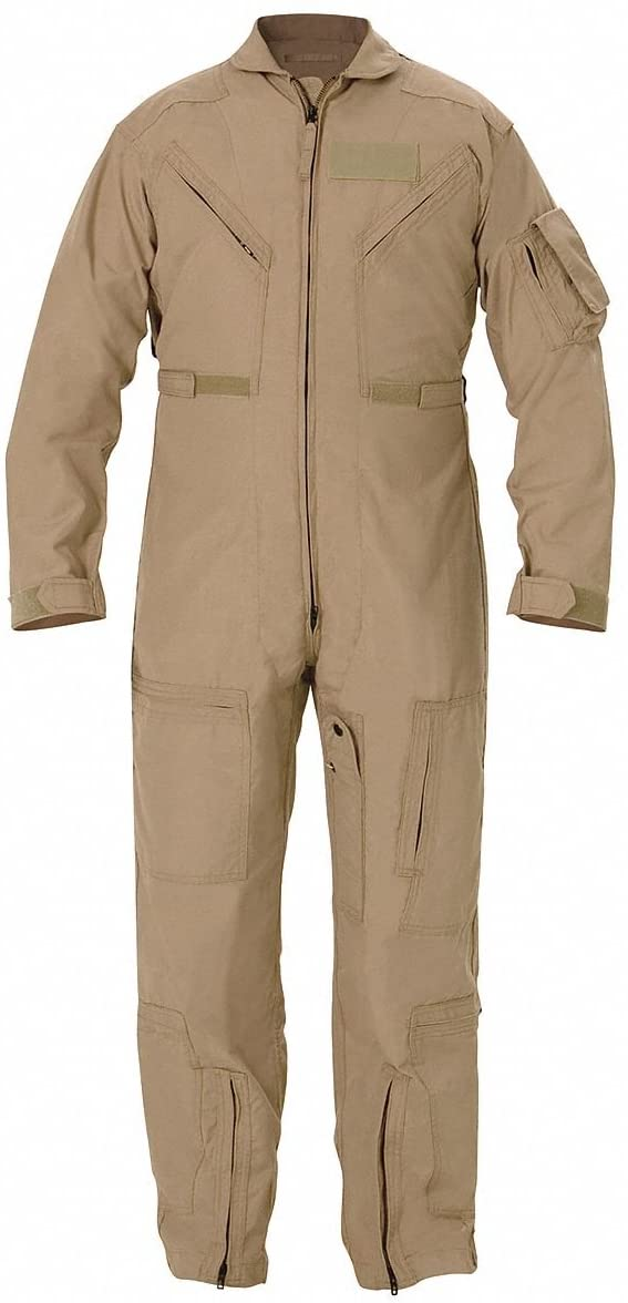 Coverall, Chest 49 to 50In, Tan