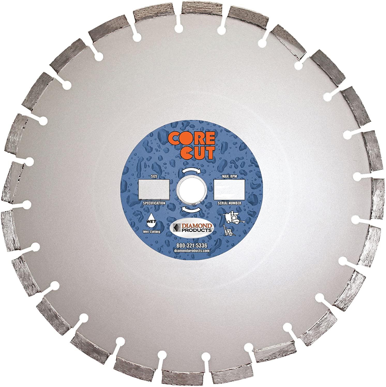 Diamond Products Core Cut 32384DIA Super Premium Cured Concrete Diamond Blade, 18-Inch x 0.165-Inch x 1-Inch, Silver