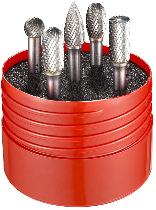 Dormer - Solid Carbide Rotary Burr Cylindrical Set 5 Piece