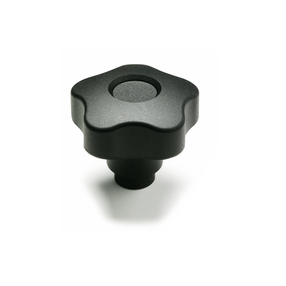JW Winco Fiber Reinforced Technopolymer Plastic Safety Lobed Knob with Steel Tapped Insert, Threaded Hole, 1/4