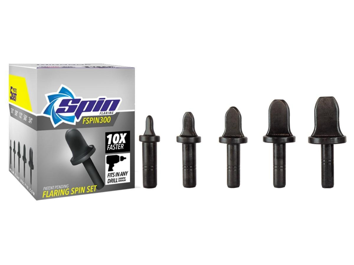 FSPIN300 Flaring Tool Drill Bit Set With 1/4, 3/8, 1/2, 5/8, 3/4 Bits