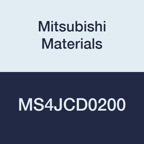 Mitsubishi Materials MS4JCD0200 MS4JC Series Carbide Mstar Square Nose End Mill, Semi Long Flute, Center Cut, 4 Flutes, 2 mm Cutting Dia.