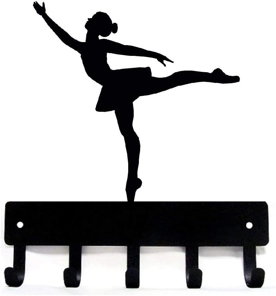 The Metal Peddler Ballerina Ballet Dancer #3 Key Rack Holder - Large 9 inch Wide - Made in USA