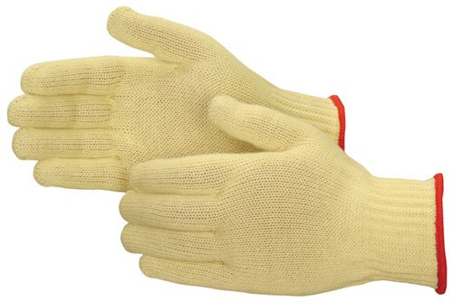 Liberty 4817 Kevlar String Knit Medium Weight Cut Resistant Glove with Elastic Knit Wrist, Large (Pack of 12)