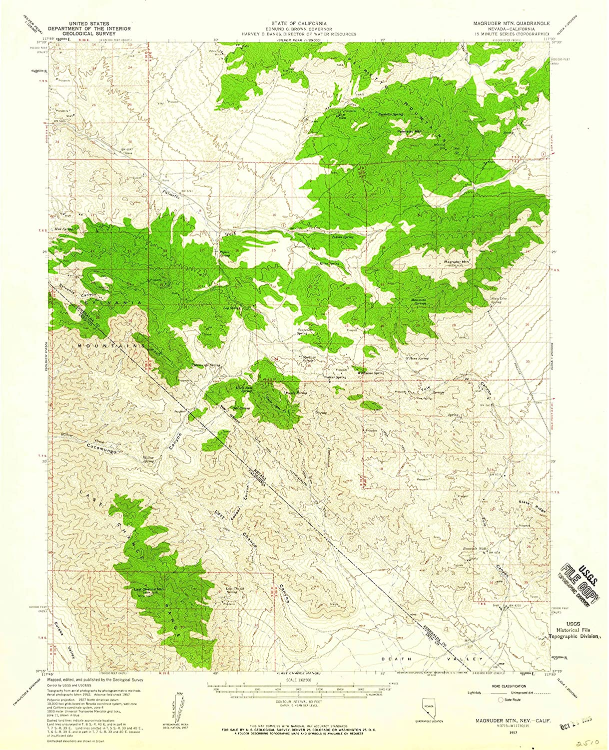 Map Print - Magruder Mtn, Nevada (1957), 1:62500 Scale - 24