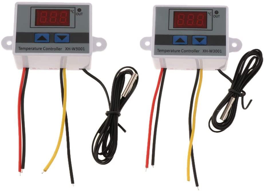 SDENSHI 2pcs Digital Temperature Controller Thermostat Switch W/Temperature Probe