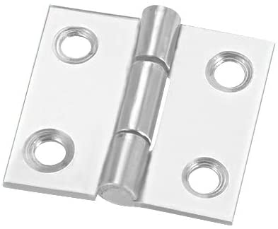 uxcell 1.06 inches Hinge Silver Door Cabinet Hinges Fittings Brushed Chrome Plain 8pcs