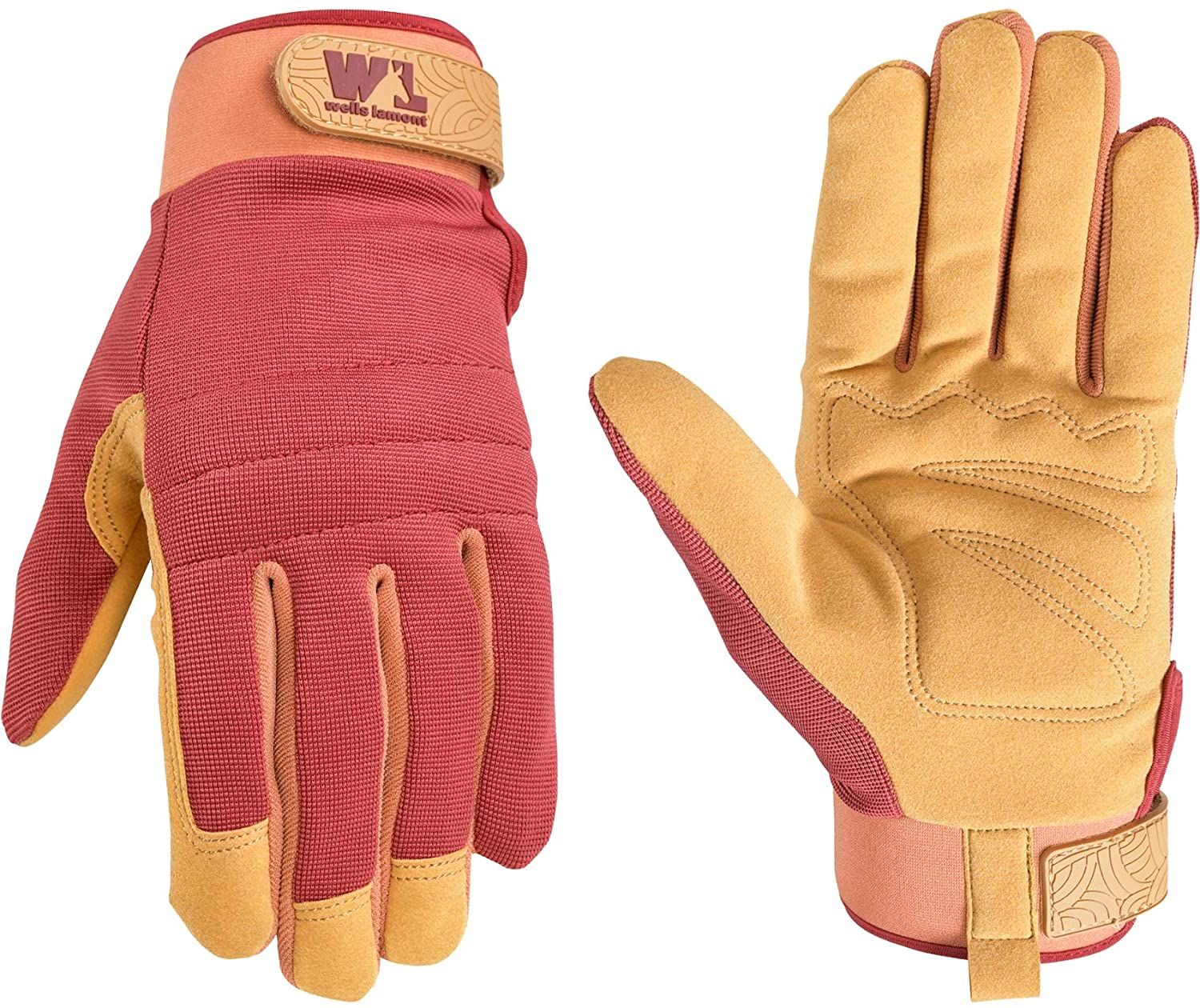 Women's Hi-Dexterity Synthetic Leather Palm Work Gloves, Small (Wells Lamont 7729)