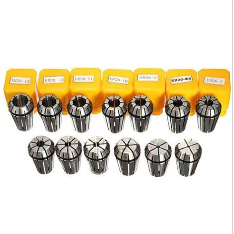 ER20 Precision SPRING COLLET set 13pcs (1mm-13mm) CNC MILLING LATHE CHUCK TOOL