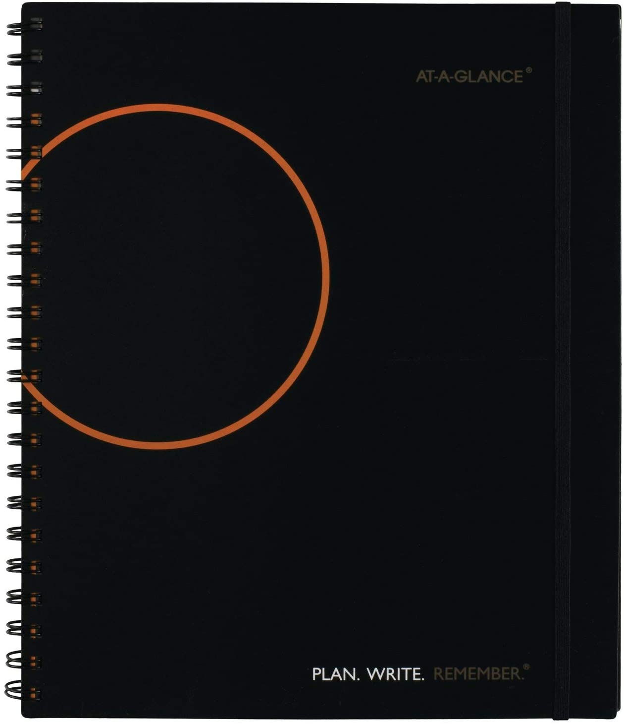 AT-A-GLANCE Planning Notebook with Reference Calendars, Plan.Write.Remember., 9.19 x 11 Inches, Black (70-6209-05)