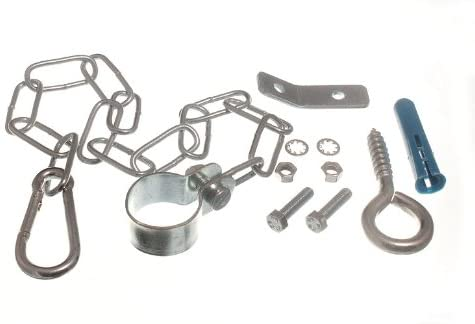 6 of Gas Cooker Stability Safety Chain Kit with Fittings and Bracket