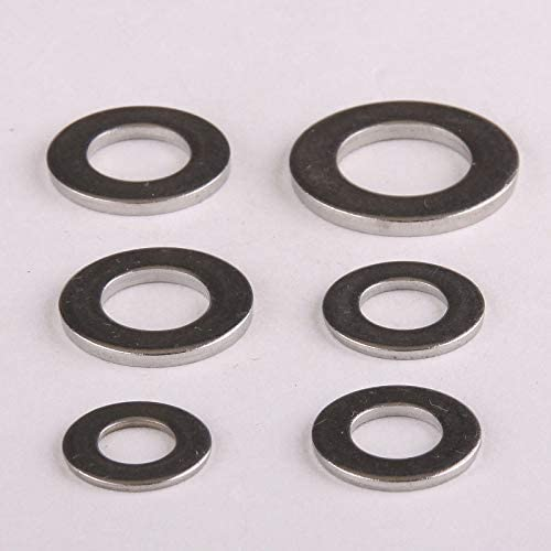 Ochoos 3PCS 316 Quality Stainless Steel Flat Pad Shims to Increase Thick Stainless Steel Flat Pad Flat Washers M10202