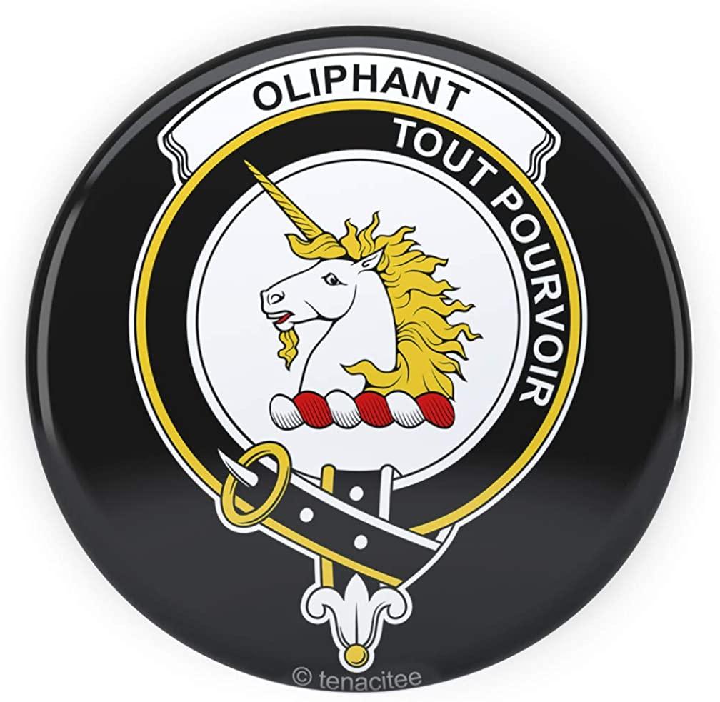 Tenacitee Scottish Clan Crest Badge Oliphant Pinback Button