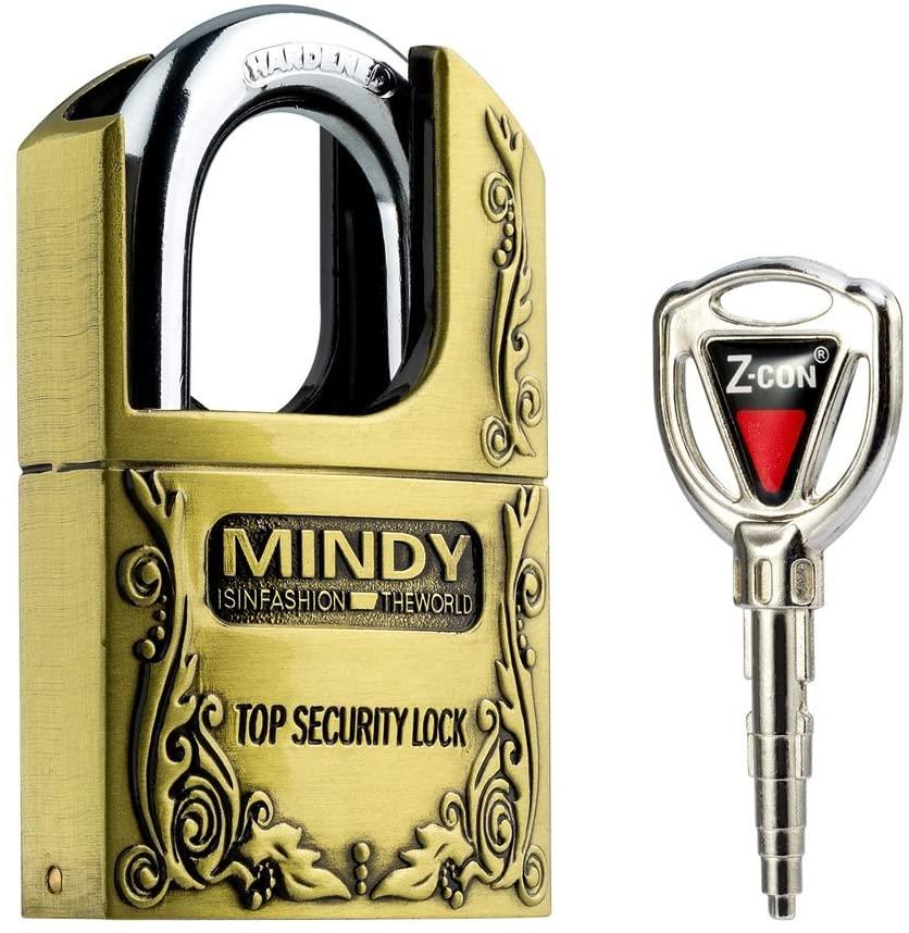 Mindy Locker Lock with Keys Zinc Alloy Padlock,3.5x1.5x2 Inch