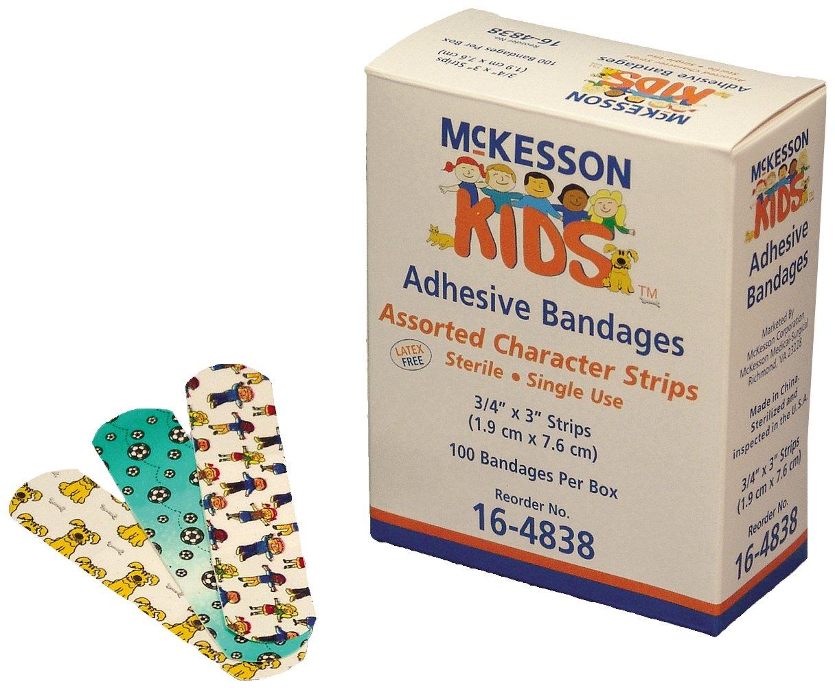 McKesson 16-4838 Kids Adhesive Strip, 3/4