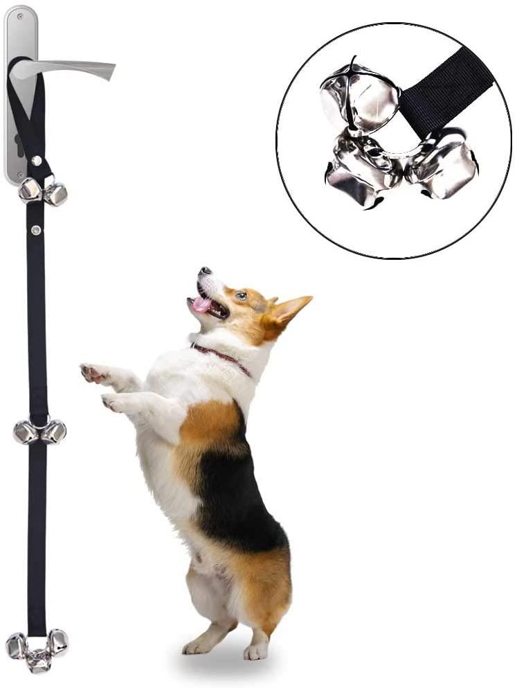 Alinana Dog Doorbells for Potty Training, Fabric Premium Quality 2.0 Adjustable Door Bell, Loud 1.5