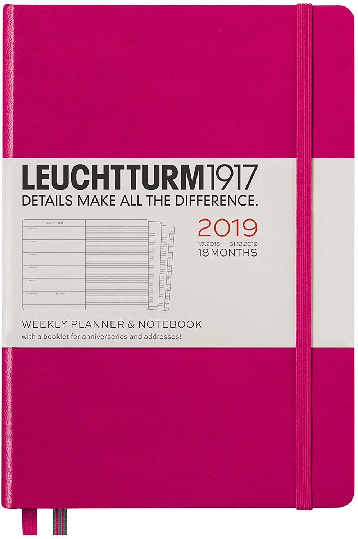 Leuchtturm1917 357842 A5 Medium Weekly Planner and Notebook - Berry