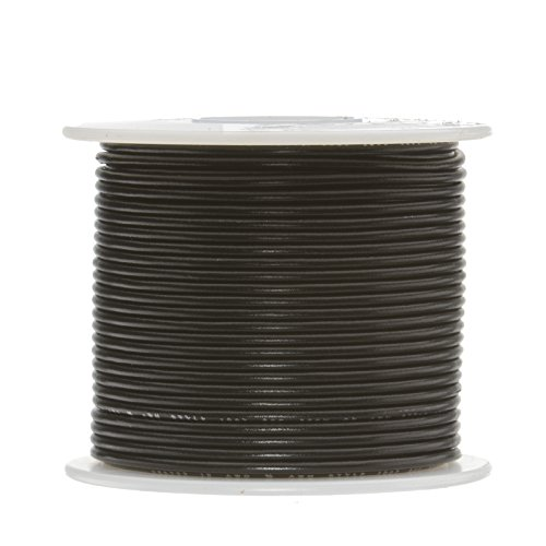 22 AWG Gauge Stranded Hook Up Wire, 250 ft Length, Black, 0.0254