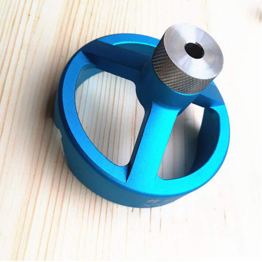 MEIGONGJU 90 Degree Drill Guide 3/4/5/6/7/8/9/10mm Drill Bit Hole Puncher Locator Jig Hinged Hole Opener Woodworking Tools,Blue