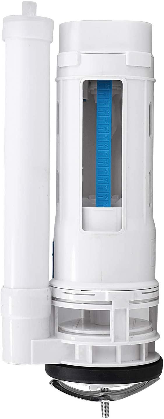 Dual Flush Toilet Valve Toilet Fittings Water Tank Drain Fill Valve for 65-75mm Diameter Drain Nozzle Toilet Cistern