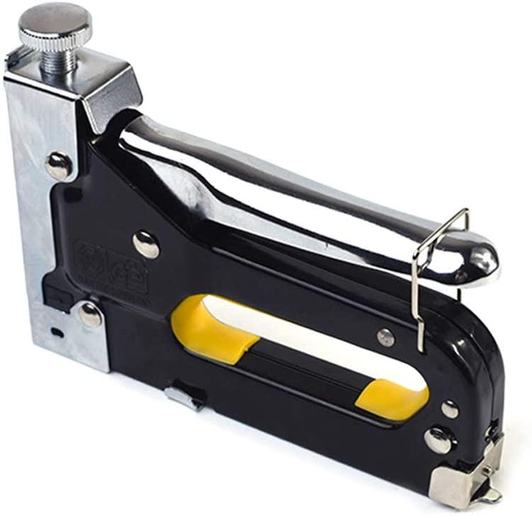 Mokylor 1 Pcs 3-in-1 Manual Nail Gun Staple Gun Furniture Stapler for Wood Door Upholstery Framing Rivet Gun Kit Tackers Rivet Tool