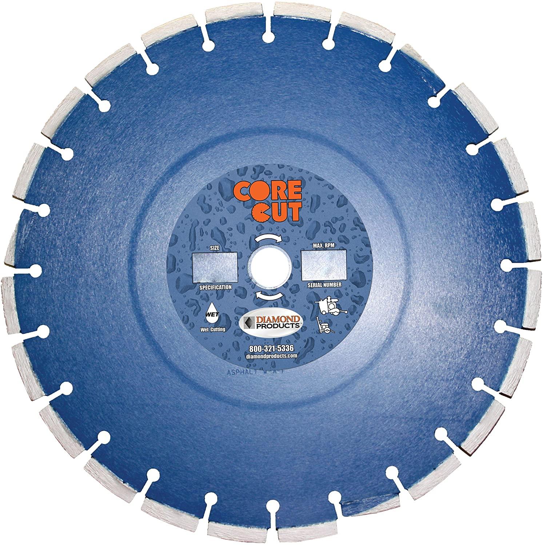 Diamond Products Core Cut 16988DIA Pro-Cured Concrete Diamond Blade, 24-Inch x 0.155-Inch x 1-Inch, Blue