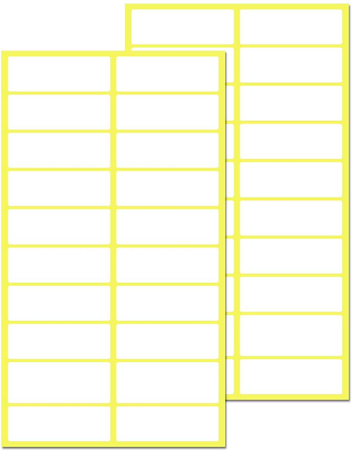 500 Pack, 0.5 x 1.5 inch, Matte White Labels Stickers - for File Folders, Envelopes