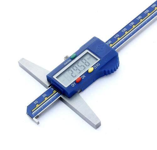 MeterTo Single Hook Digital Depth Gauge, 0-500mm, ±0.05mm, L: 585mm, a: 150mm, b: 8mm, c: 3mm, d: 15mm