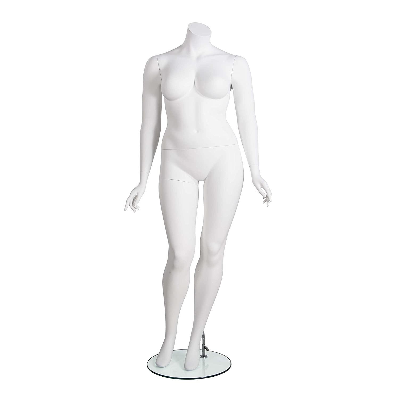 Mondo Mannequins AMBERPLHL Amber Plus Size Mannequin - Headless