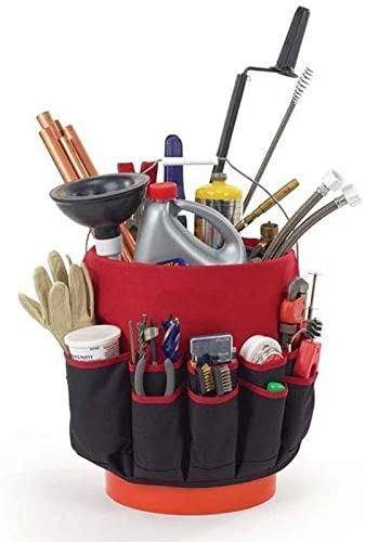 Nbrand (Bag only, Without Tools) Garden Bucket Tool Bag Multifunctional Portable Garden Tool Bag Oxford Cloth Storage Bag