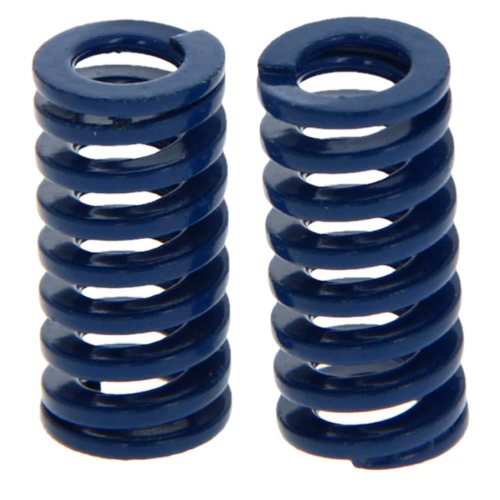 MroMax 10mm OD 20mm Long Spiral Stamping Light Load Compression Mould Die Spring Blue 2Pcs