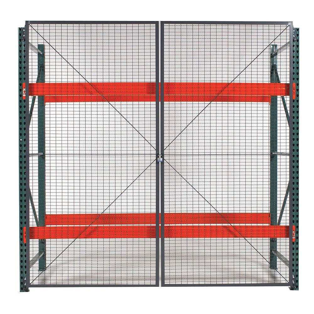 Wirecrafters - RackBack Wire Mesh Pallet Rack Enclosure - Hinged Door 120