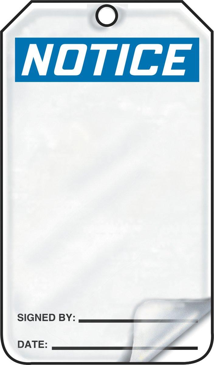 Accuform MDT800LPM RP-Plastic Safety Tag, Legend