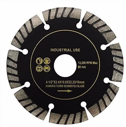 Moon Daughter 10PC Turbo Segment Cut Diamond Blade 4.5 Wet Dry General Tile Saw Concrete 13300rpm
