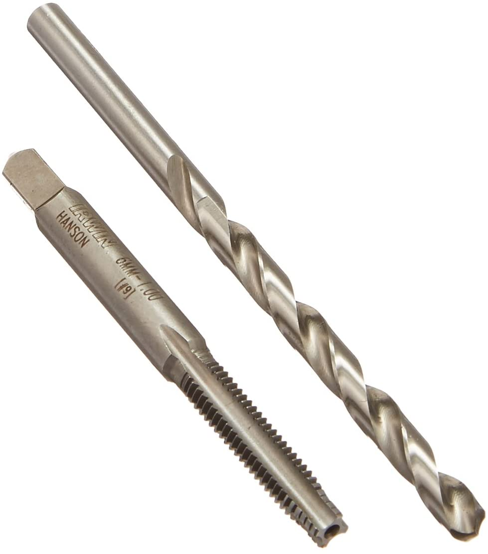Hanson 1788680 Pts Tap Plus Drill Combo 6mm-1.00/Number 9 for Tap Die Extraction