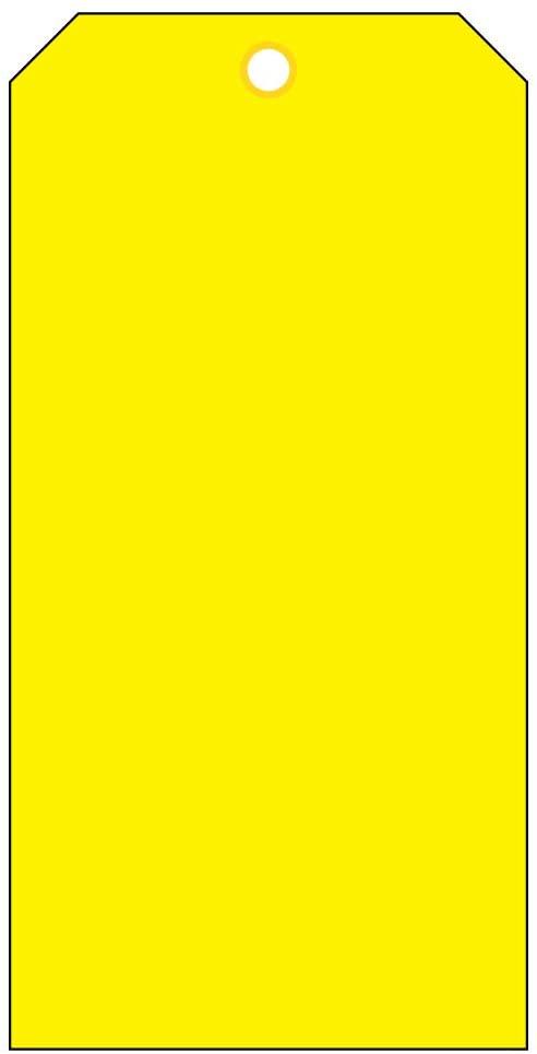 Blank Heavy Duty 15 Mil Waterproof Plastic Tags - Equipment - Valve - Backpack - Pack of 100 (2 x 4, Yellow)