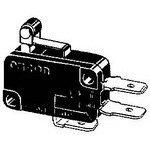 V-215-1C6, Switch Snap Action N.O./N.C. SPDT Short Hinge Roller Lever Quick Connect 21A 250VAC 250VDC 372.85VA 4.71N Screw Mount (5 Items)
